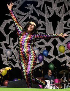 #lovefoxxx #glastonbury #catsuit #bodysuit #sequin #rainbow