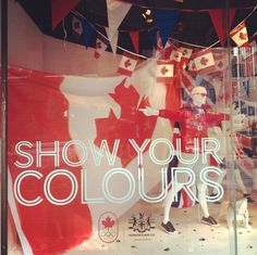 Showing our colours in The Bay's window displays!