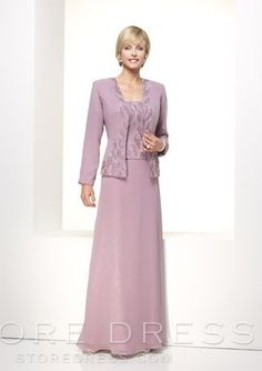 Fantastic Sheath/Column Embroidery Floor-Length Mother of the Bride Dress $425.99