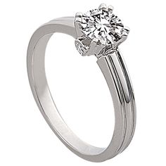 Solitaire Engagement Ring by http://www.engagediamonds.com/