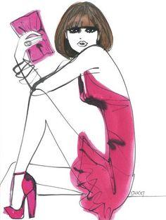 Izak Zenou #fashion #watercolor