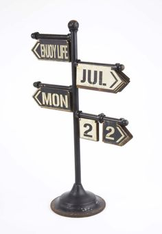 HEAVEN SENDS LARGE DISTRESS FINISHE BLACK WROIGHT IRON PERPETUAL CALENDER £74.99 JUST ARRIVED FROM OUR LOFT LIVING COLLECTION