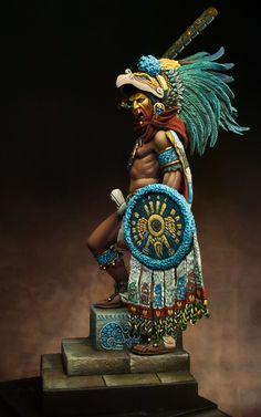 by Alessandro · Putty&Paint Montezuma - Aztec Emperor. by Alessandro · Putty&Paint Montezuma - Aztec Emperor. by Alessandro · Putty&Paint Montezuma - Aztec Emperor. by Alessandro · Putty&Paint Guild Wars, Aztec Statues, Aztec Costume, Aztec Emperor, Aztec Tattoo Designs, Goldscheider, Ancient Aztecs, Aztec Warrior, Mexico Art