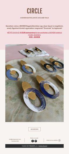 CIRCLE  A BOHEM NAGYKOLLEKCIÓ LEGÚJABB TAGJA Handmade Jewelry, Enamel, Legs, Vitreous Enamel, Handmade Jewellery, Jewellery Making, Enamels, Diy Jewelry, Tooth Enamel