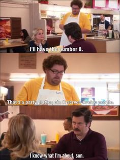 Parks and Recreation. Ron Swanson is the best Parks And Rec Memes, Parks And Recs, Parks And Recreation, Funny Memes, Hilarious, Jokes, Funny Quotes, Ron Swanson Quotes, Never Not Funny