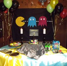 How Cute Would This Party Be For A Bday Boy 4 X 6 Pac Man