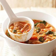 Kale, Beef, and White Bean Stew