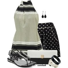 """Love this!!!!  """"Dots and Stripes"""" by averbeek on Polyvore"""
