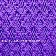 Cable Knitting Stitches » Twist Stitch » Interlocking Lattice