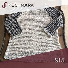 Loft sweater Cute stripe, longer in back, 3/4 sleeve LOFT Sweaters Crew & Scoop Necks