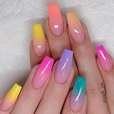 Nails Inc, Polygel Nails, Nail Nail, Nail Polishes, Summer Acrylic Nails, Best Acrylic Nails, Summer Nail Art, Bright Acrylic Nails, Summer Nail Polish