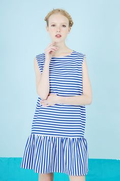 Back Open Peplum Stripe Dress http://www.thewhitepepper.com/collections/dresses/products/back-open-peplum-stripe-dress