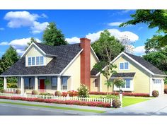 Eplans Cottage House Plan - Classic Cottage - 1675 Square Feet and 3 Bedrooms from Eplans - House Plan Code HWEPL75399