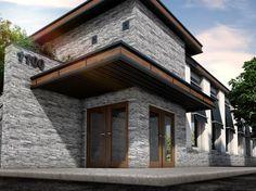 Fassadenverkleidung Novik Schichtstein DS