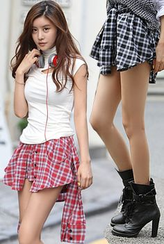 Today's Hot Pick :Checkered Button-Down Skirt http://fashionstylep.com/SFSELFAA0001446/happy745kren/out High quality Korean fashion direct from our design studio in South Korea! We offer competitive pricing and guaranteed quality products. If you have any questions about sizing feel free to contact us any time and we can provide detailed measurements.
