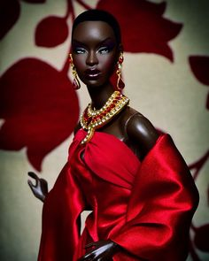 Adele Makeda as Countess of Rubies African American Beauty, African American Dolls, Fashion Royalty Dolls, Fashion Dolls, Adele, Decoration Chic, Diva Dolls, Dolls Dolls, African Dolls