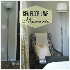 Simple NOT lamp makeover Ikea Floor Lamp, Ikea Lamp, Floor Lamp Makeover, Headboard Cover, Contemporary Floor Lamps, Decoration, Furniture Makeover, Diy Home Decor, Flooring