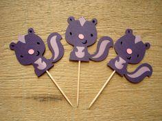 Skunk Cupcake Toppers