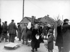 Kovno, Lithuania, People in the ghetto.