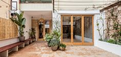 carles enrich intertwines patios with interiors for house in barcelona New Homes, Outdoor Rooms, Decor, Entrance Design, House, Modern Spaces, Heritage House, Interior And Exterior, House Exterior