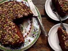 spiced ginger date cake