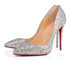 Christian Louboutin Pigalle Follies Aliglitter In Silver Best Bridal Shoes, Wedding Shoes, Dream Wedding, Short Toes, Louboutin Online, Silver Glitter Heels, Bride Shoes, Pump Shoes, Women's Shoes
