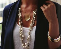 lotus pearls and signature pendant - get the layered look!  check out my online boutique!