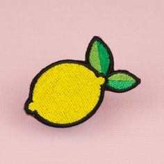 Lemon Iron on Patch Band Patches, Cute Patches, Pin And Patches, Sew On Patches, Iron On Patches, Hat Embroidery, Embroidery On Clothes, Embroidery Patches, Hand Embroidery Designs