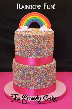 How PUMPED would a girl of ANY age be to get this cake on her birthday???