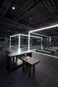 Fitness Design Gym Interior Ideas For 2020 Gym Lighting, Lighting Design, Luxury Lighting, Gym Interior, Interior Design, Asian Interior, Interior Ideas, Accor Hotel, Sport Studio