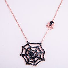 https://www.cityblis.com/2069/item/7302 | 925 Sterling Silver Spider Necklace - $98 by Amorium |  | #Necklaces