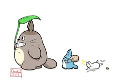 Totoro Sticker by Clawshawt.deviantart.com on @deviantART