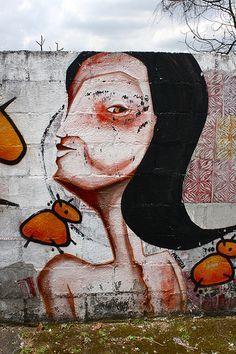 Street art São Paulo, Brazil Magrela