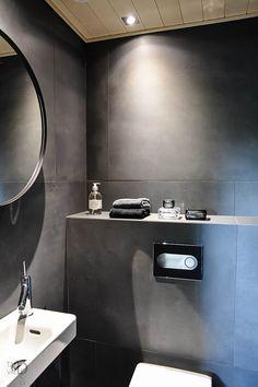 Beautiful Small Bathrooms, Tiny Powder Rooms, Bathroom Inspiration, Bathroom Ideas, Bathroom Toilets, Home Reno, House Design, Bath Shower, Interior Design