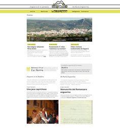 """Desarrollo de plataforma web para """"Fundación La Sierra CV"""". #webdevelopment Diseño de @Maria José"""