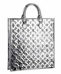 #LV Mirror Sac Plat Silver Colour Monogram Vernis Leather Silver Hardware Good Conditions ref.code-(KCTS-1)