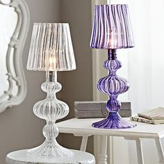 Reagan Glass Table Lamp #pbteen