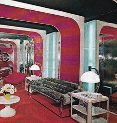 Home Decoration For Ganpati Referral: 2564671316 1970s Decor, 70s Home Decor, Vintage Decor, Vintage Modern, Vintage Table, 1970s Living Room, Living Room Decor, Retro Room, Vintage Interiors