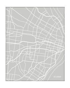 St. Louis, Missouri city map