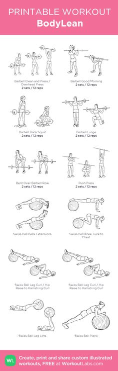 BodyLean – my custom workout created at WorkoutLabs.com