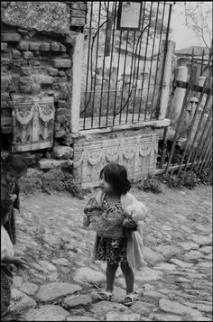 Zeyrek quarter, Moslem cemetery with Roman remains in the wall, Istanbul 1964 by Henri Cartier Bresson
