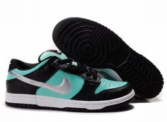 Nike Dunk SB Low Men & Women Pro SB Black Silver-Tiffany Blue Nikes Shoes $ 64.41