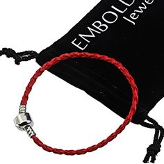 Silver Beads Red Leather String Braided Cord - Best Accessories to Create Bracelets for Women and Teens -- You can find more details at http://www.laminatepanel.com/store/silver-beads-red-leather-string-braided-cord-best-accessories-to-create-bracelets-for-women-and-teens/?ij=250616190211