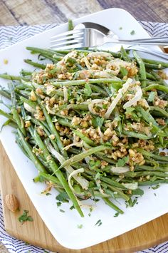 Crisp-tender green beans are sautéed with onions and almonds in this healthy side dish. This dish makes a great accompaniment to any meal!
