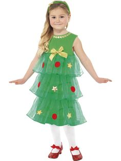 christmas dress for toddlers girls | ... > Christmas Fancy Dress > > Little Girls Christmas Tree Party Dress