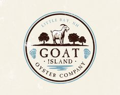 Food infographic design for Goat Island Oyster Company - a small New Hampshire oyster farm . Infographic Description design for Goat Island Logo Inspiration, Creative Inspiration, Logo Abstrait, Logo Professionnel, Logo Boutique, Goat Logo, Hampshire, Etiquette Vintage, Agriculture Logo