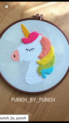 with my beloved. # Repost with ・ . - With my dear let& do . # Repost with ına ・ ・ Unicorn - Embroidery Hoop Art, Cross Stitch Embroidery, Embroidery Patterns, Cross Stitch Patterns, Punch Needle Patterns, Punch Art, Rug Hooking, Sewing Projects, Crochet