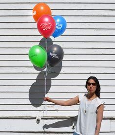 Porque às vezes, só um divertido balão pra distribuir umas belas verdades... (Jerk Balloons, Novelty Balloons with Mean-Spirited Messages)
