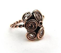 Wire Wrap Lesson Twisted Wire Ring Tutorial - 2 Designs by graciela