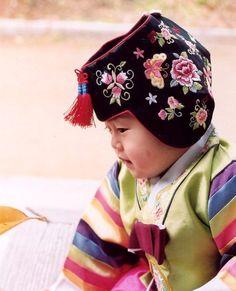Cute Baby in Hanbok